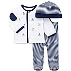 Little Me® Anchors 3-Piece Take Me Home Pants Suit with Cap