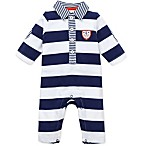 Little Me Sailors 1-Piece Coverall in Navy Stripe
