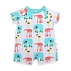 Marimekko® Mammutti Romper in White/Zoo Animals