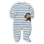 Carter's® Blue Stripe Monkey Preemie 1-Piece Footie