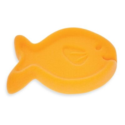 Baby's Journey Fish Bath Sponge in Orange