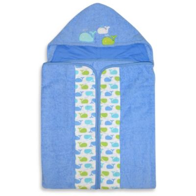 Just Born® Sea Brights Whale Bath Wrap in Blue