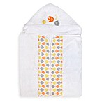 Just Born® Sea Brights Fish Bath Wrap in White