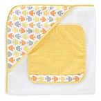 Just Born® Sea Brights Fish Hooded Towel and Washcloth Set in Neutral