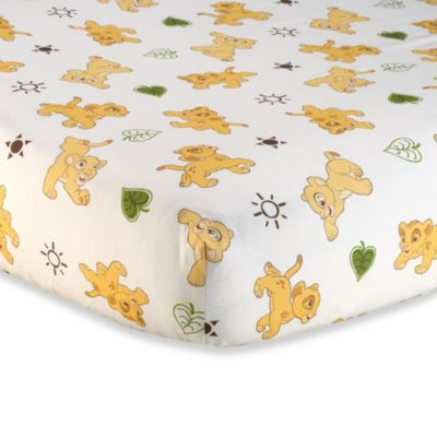 Disney Baby Lion King Go Wild Fitted Crib Sheet