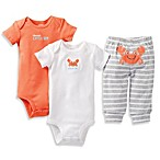 Carter's® 3-Piece Preemie Red/Grey Crab Pant Set