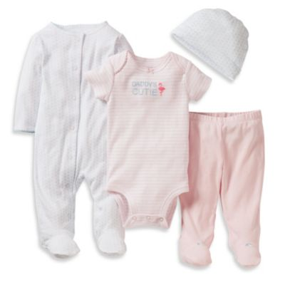 Carter's® Preemie 4-Piece Daddy's Cutie Footie Set in Pink/Blue