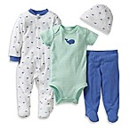 Carter's® Preemie 4-Piece Whale Footie Set in Mint/Blue