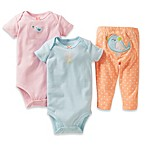Carter's® Preemie 3-Piece Birds Pant Set in Orange/Pink/Blue