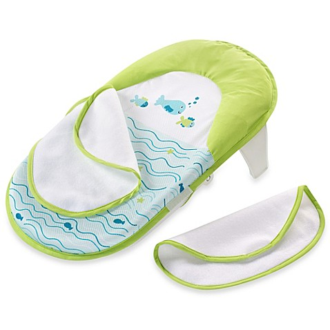 Buy Summer Infant® Bath Sling with Warming Wings in Green ...