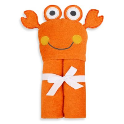 Just Bath™ by Just Born® Love to Bathe Woven Crab Hooded Towel in Orange