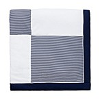 Little Me Striped Sail Blanket in Navy and White