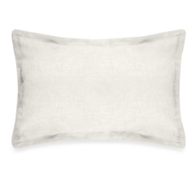 Veratex Gotham Boudoir 100% Linen Throw Pillow in Pearl
