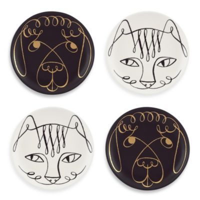 kate spade new york Woodland Park Cat and Dog Coasters (Set of 4)