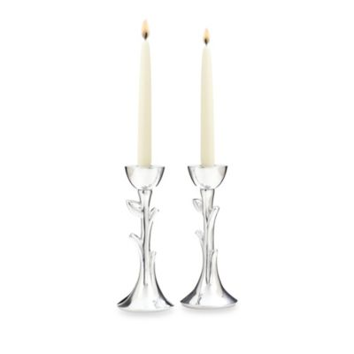 Nambe Tree of Life Sabbath Candlesticks