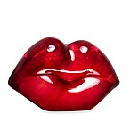 Kosta Boda Make Up Hot Lips Figurine in Raspberry