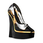 Kosta Boda Make Up Shoe in Black/Clear