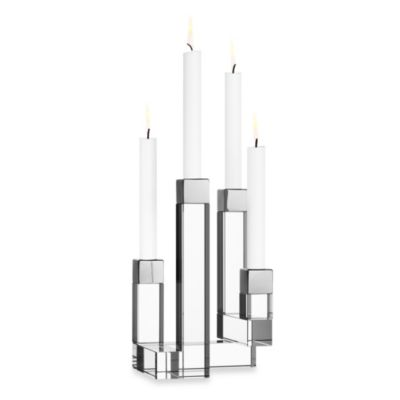 Orrefors 4-Arm Chimney Candleholder