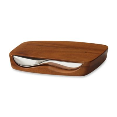 Nambe Gourmet Blend Bar Board with Knife
