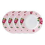 Royal Albert New Country Roses Casual Pink 6.3-Inch Bread & Butter Plates (Set of 4)