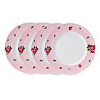 Royal Albert New Country Roses Casual Pink 10.6-Inch Dinner Plates (Set of 4)