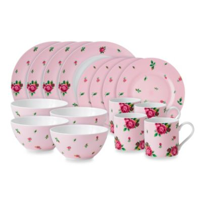 Pink Rose Dinnerware Sets