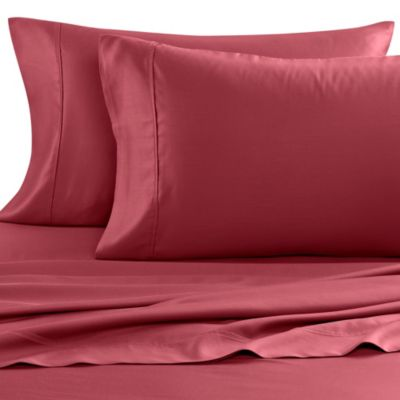 Eucalyptus Origins™ Tencel® Lyocell 600-Thread-Count Olympic Queen Sheet Set in Red