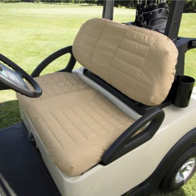 Classic Accessories Fairway Golf Cart Padded Seat Cover in Sand
