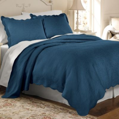 Matelasse Coventry Coverlet in Cobalt Blue