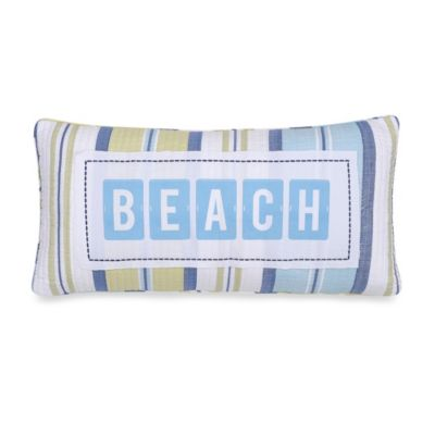 Hampton Beach Oblong Toss Pillow