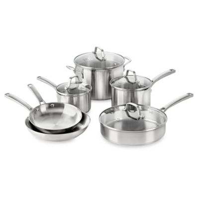 Calphalon® Classic Stainless Steel 10-Piece Cookware Set
