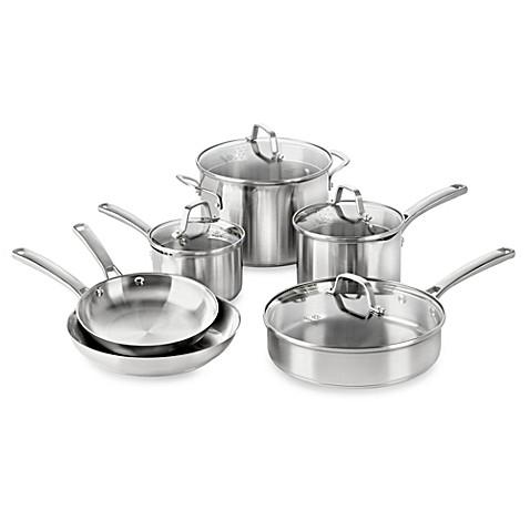 Calphalon 174 Classic Stainless Steel 10 Piece Cookware Set
