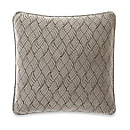 Sure Fit® Stretch Braid 18-Inch Square Pillow in Pebble