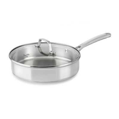 Calphalon® Classic Stainless Steel 3-Quart Covered Sauté Pan