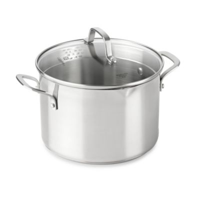 Calphalon® Classic Stainless Steel 6-Quart Covered Stock Pot