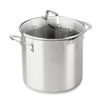Calphalon® Classic Stainless Steel 8-Quart Covered Stock Pot