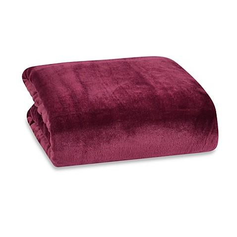 Berkshire Blanket 174 Modern Comfort Throw In Shiraz Wine