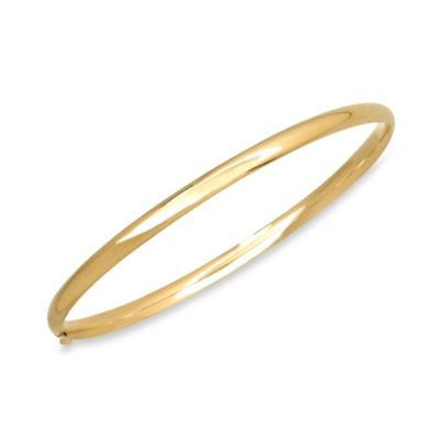 Simple Polished Bangle in 14K Yellow Gold
