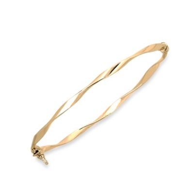 Twisted Polished Bangle in 14K Yellow Gold