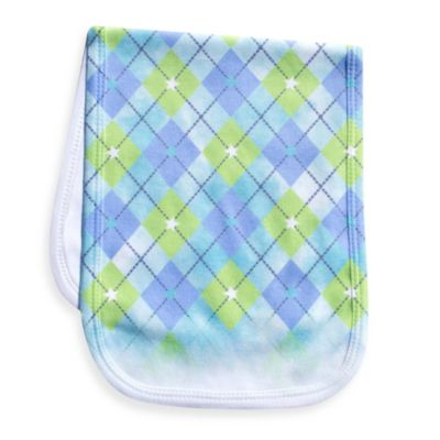Clever Birds® Argyle Elephant Cut Outs Burp Cloth