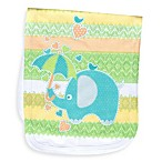 Clever Birds® Elephant Retro Stripes Burp Cloth