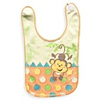 Clever Birds® Monkey Funtime Reversible Bib