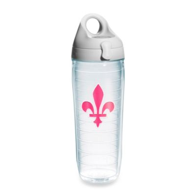 Tervis® Fleur de Lis 24–Ounce Water Bottle with Lid in Pink