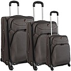 Traveler's Club Expandable 4-Wheel Rolling Spinner Luggage in Charcoal