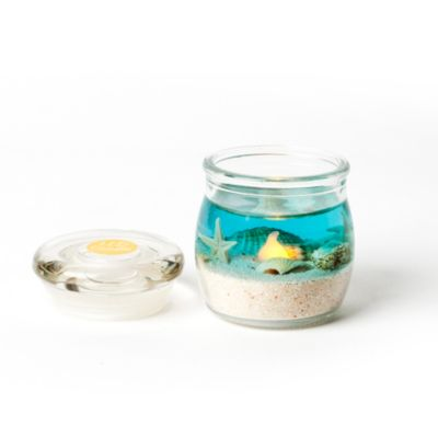 2.5-Inch Oceanscape Gel LED Mini Jar Candle