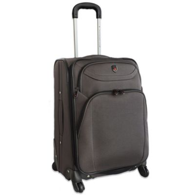 "Traveler's Club 25"" Expandable 4-Wheel Spinner Luggage in Charcoal"
