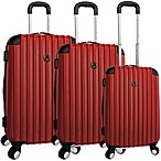 Traveler's Club Expandable 4-Wheel Rolling Spinner Hardside Luggage in Red