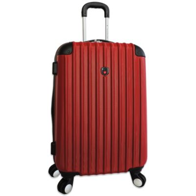 Traveler's Club 29-Inch Expandable 4-Wheel Rolling Spinner Hardside Luggage in Red