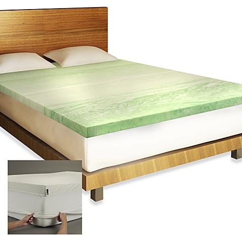 buy bios full body relief memory foam full mattress topper from bed bath beyond. Black Bedroom Furniture Sets. Home Design Ideas