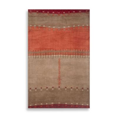 Mojave 2-Foot x 3-Foot Area Rug in Beige/Red